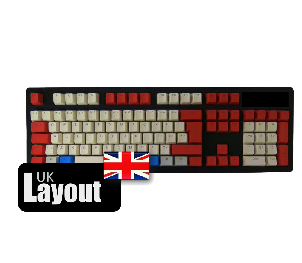 Tai-Hao ABS Backlit Double Shot Keycaps Red/White UK